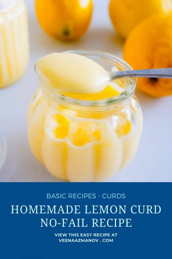 Pinterest image ho to make lemon curd.