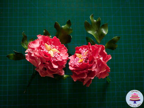 Gum paste Peony Leaves