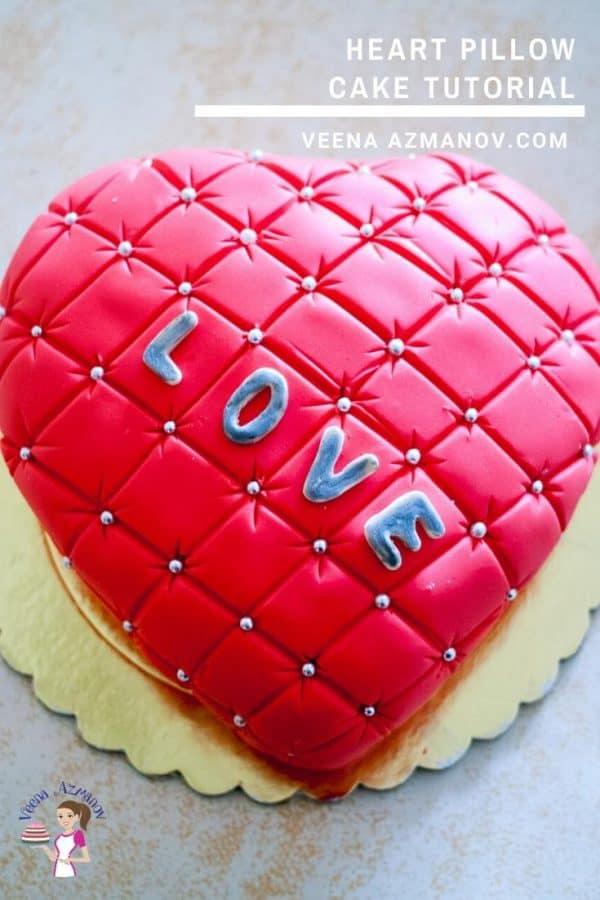 A heart-shaped cake.
