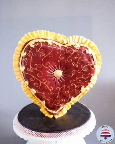 Valentine Heart Pillow Cake