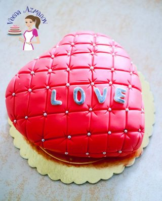 Valentine Heart Cake Video Tutorial