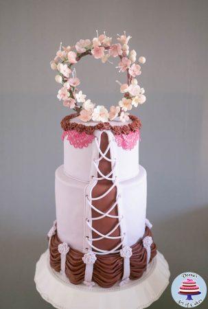 Dress Inspired Sweet Sixteen Cake