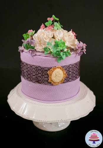 Lavender lace and Cameo Cake -2