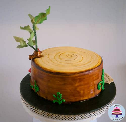 How To Make A Fondant Tree Stump Cake