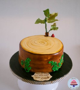 Tree Stump Cake-3