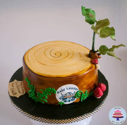Tree Stump Cake-4