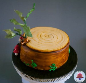 Tree Stump Cake-7