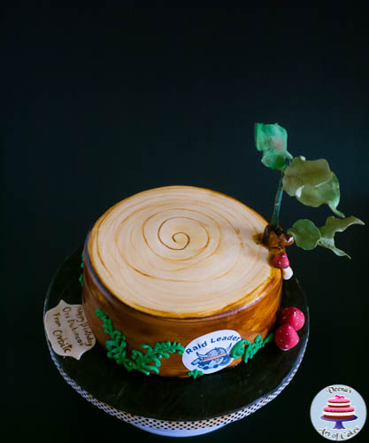 Tree Stump Cake-8