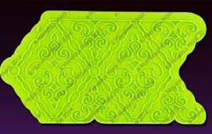 filigree-damask-pattern-silicone-onlay