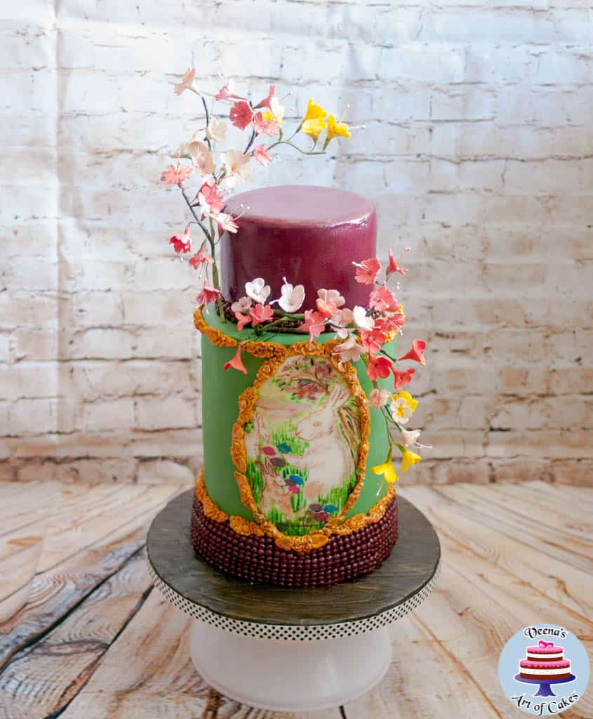 A Painted Easter Collaboration Cake