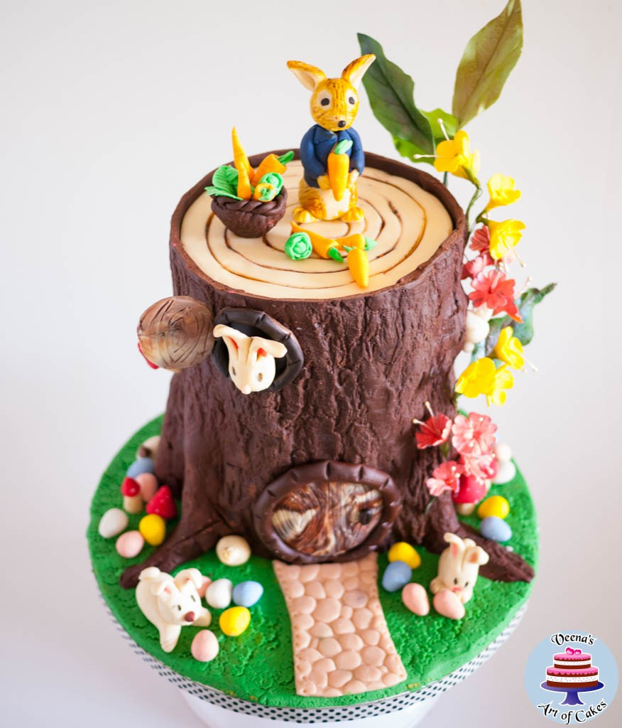 Easter Theme Tree Stump Cake-2