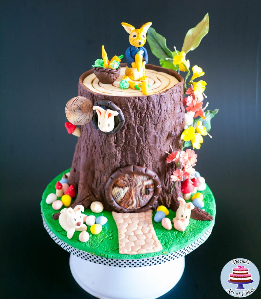 Easter Theme Tree Stump Cake-3