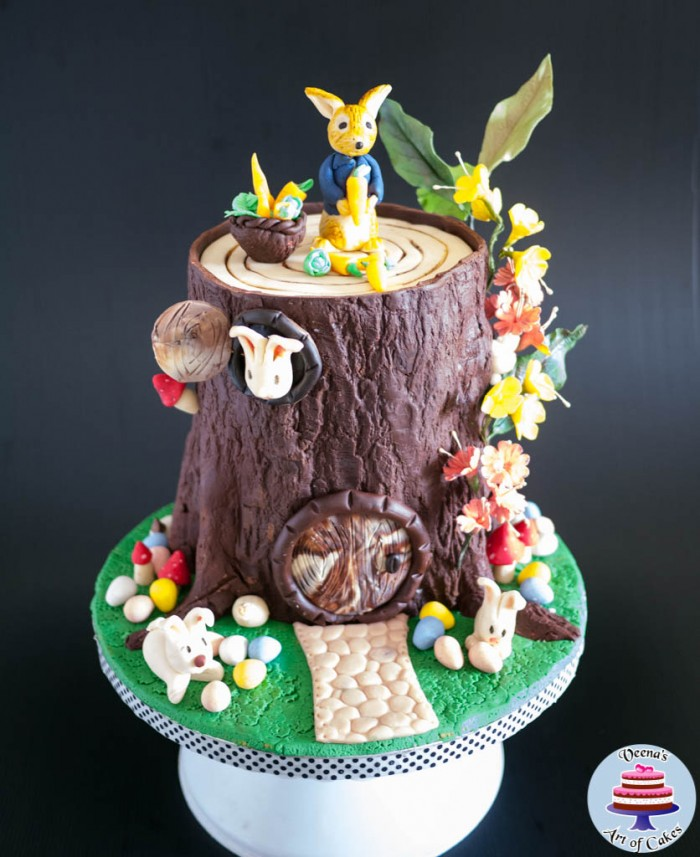 Easter Theme Tree Stump Cake-4
