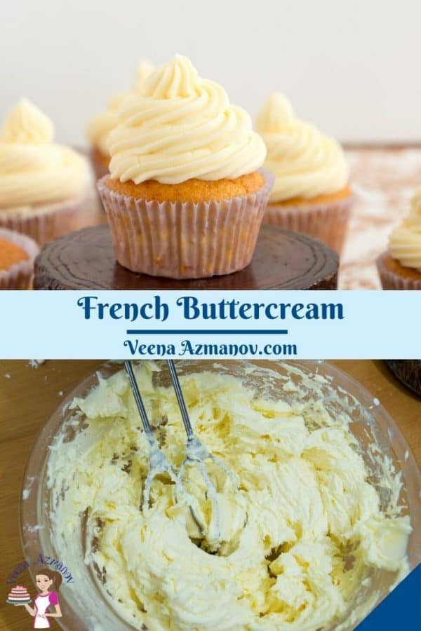 Pinterest image for French Buttercream.