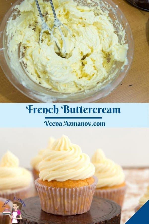 Pinterest image for buttercream made French method.