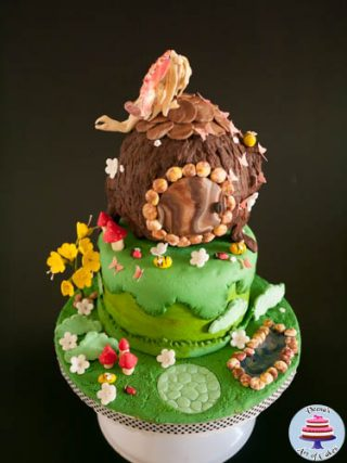 Woodland Fairy Tree House Cake