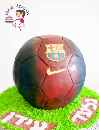 Barcelona Soccer Ball Cake and How I made it