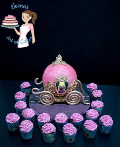 how to make cinderella carriage cake