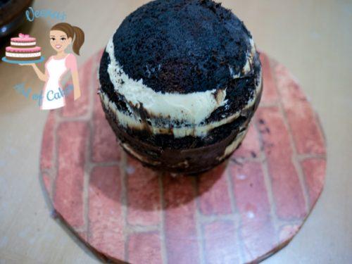 Cinderella Carriage Cake Tutorial Layer cake