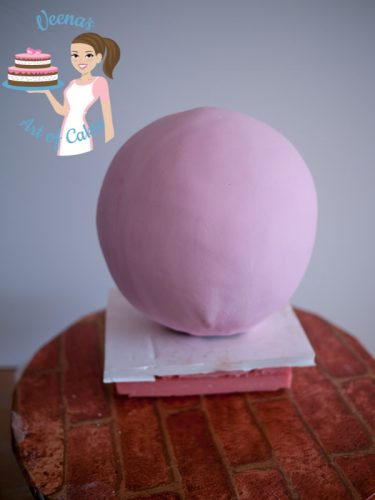 Cinderella Carriage Cake Tutorial Pink fondant