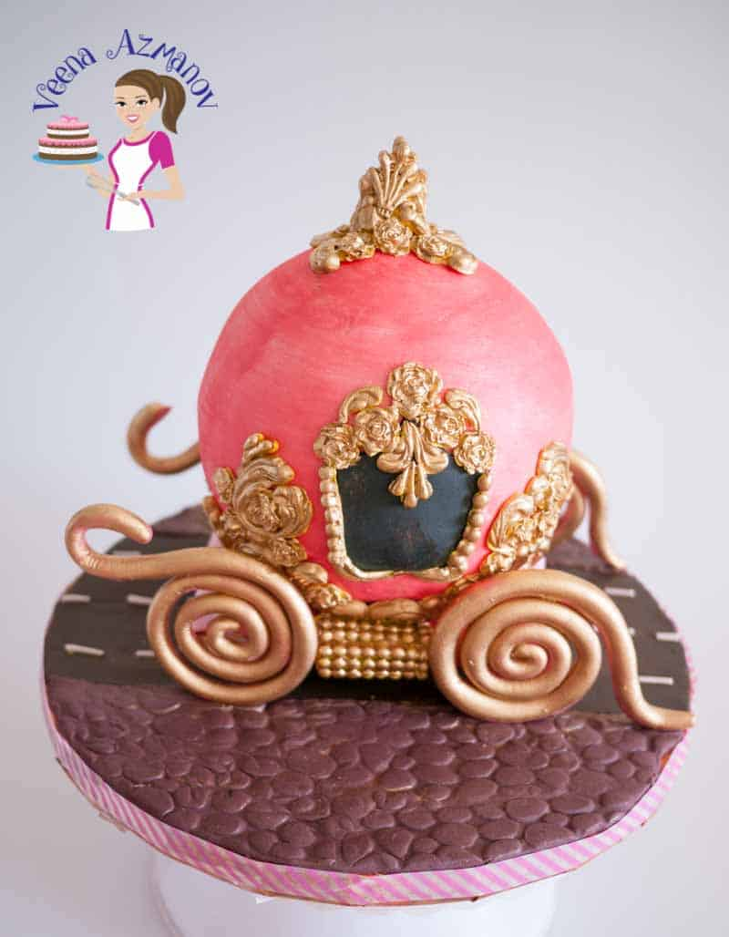 All little girls are into Cinderella Carriage Cake at some point. In this post I show you in detail how I made this super fun, easy and impressive cake effortlessly.