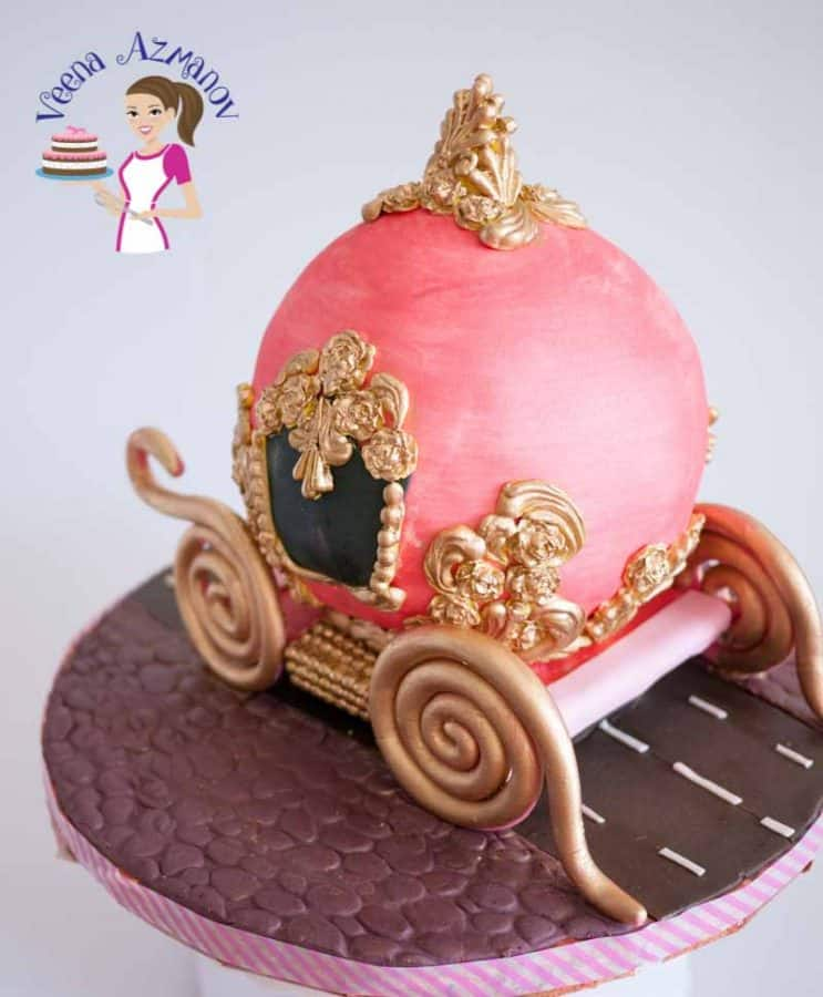 Cinderella Carriage Cake Cake Decorating Tutorials Veena Azmanov