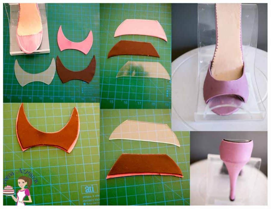 A gum paste stiletto shoe can be easy with the right tools and a few tips and tricks. With this step by step tutorial you will can create perfect sugar shoe.
