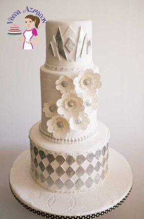 Art Decor Theme Wedding Cake – Decorated Wedding Cake