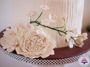 Dress Inspired White Wedding cake-4