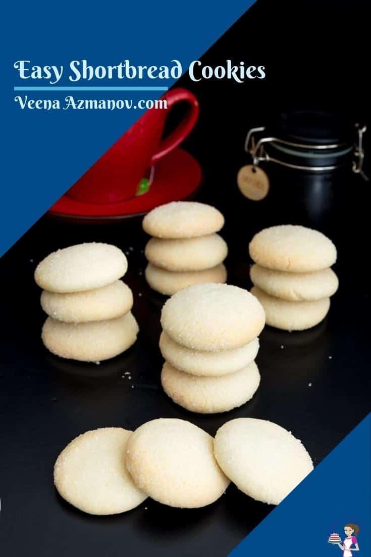 Pinterst image for shortbread cookies