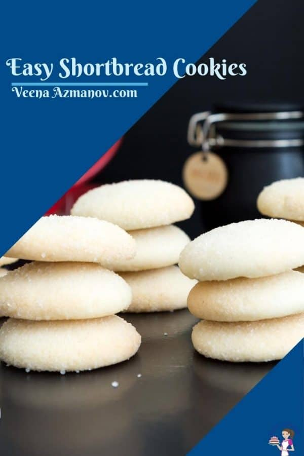 Pinterest image for shortbread cookies