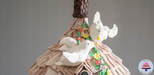 Hanging Bird House Cake -1-7