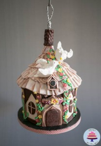 Hanging Bird House Cake -5
