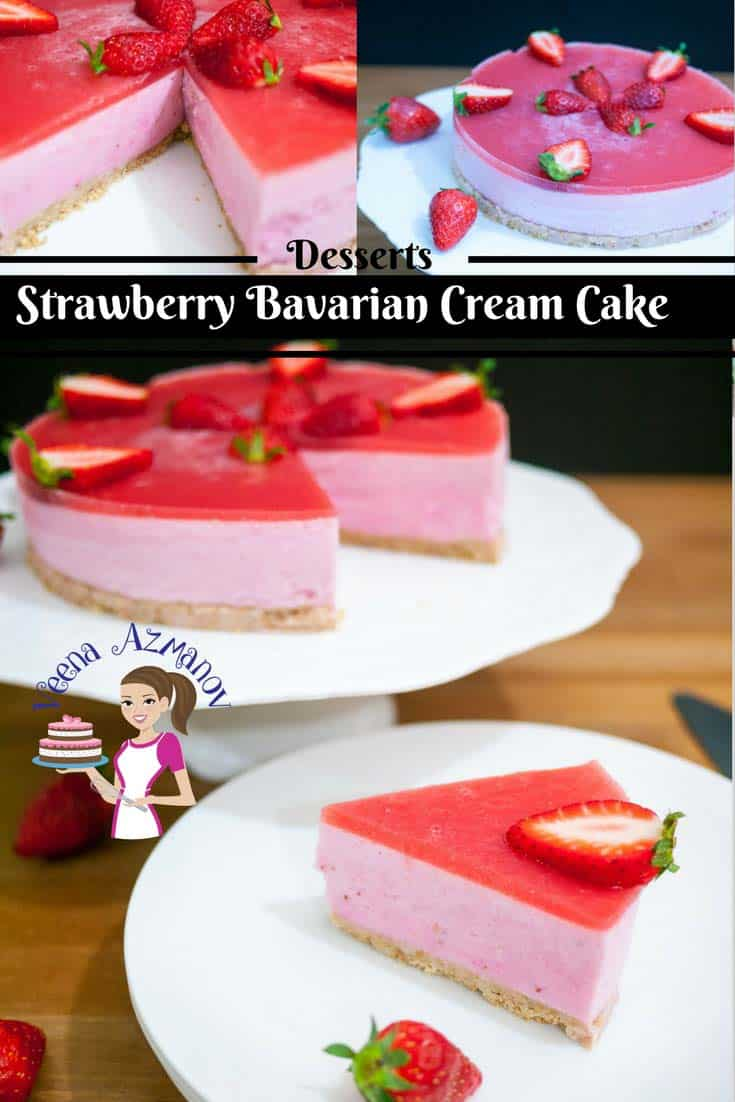This Strawberry Bavarian Cream Cake is a perfect entertaining dessert very impressive & luxurious. Made with creamy strawberry vanilla pastry that feels like velvet on the tongue. A few extra step in the making but your guest will be truly impressed.