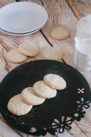 White Shortbread Cookies  just 5 ingredients (Eggless)