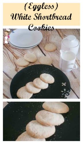 These white shortbread cookies are eggless and super easy to make. With only 5 ingredients they barely take any time to make or bake. Such a treat any time.
