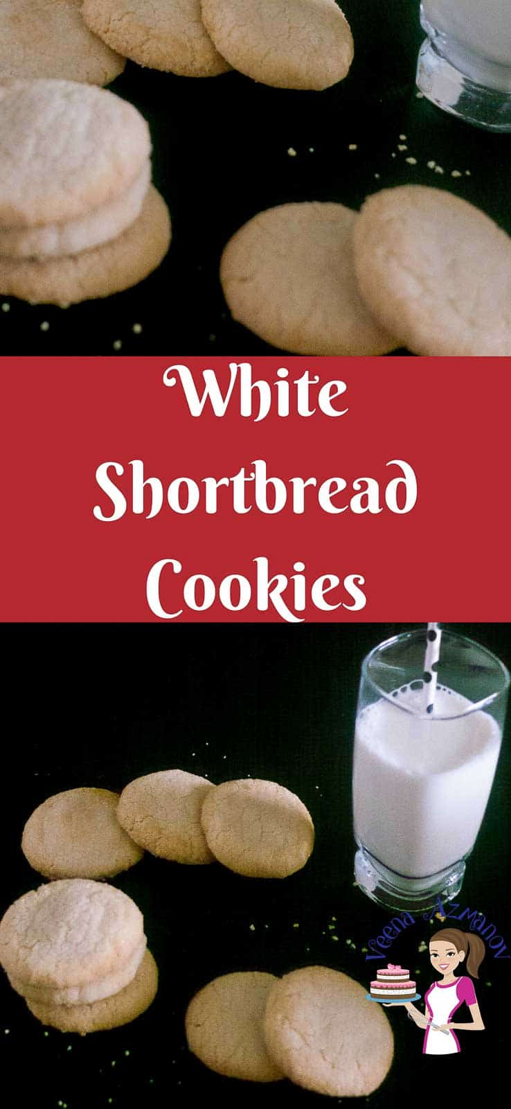 oft, crisp cookies that melt in the mouth is what these white shortbread cookies are all about. So delicious that making extras is highly recommended. They simple easy and effortless to make taking no more than 15 minutes. No need to chill the dough or use any special equipment.