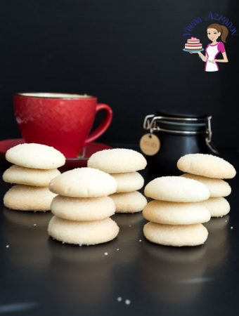 White Shortbread Cookies Just 5 Ingredients (video recipe)