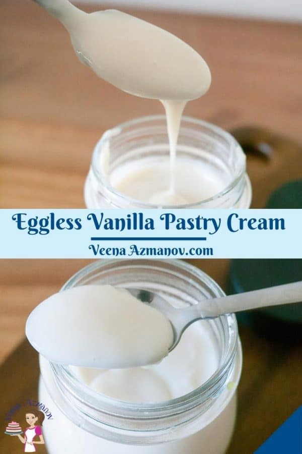 Pinterest image for pastry cream.