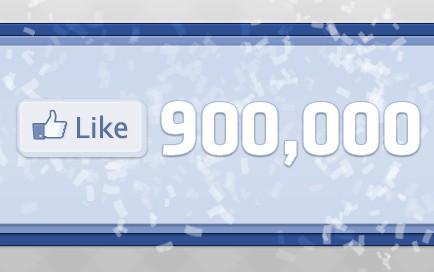 900 000 Fans on Facebook