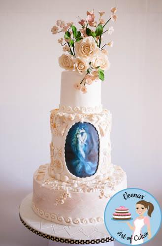 Beach theme wedding cake veena azmanov beach theme wedding cake junglespirit Image collections