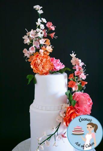 Floral Wedding Cake (1)