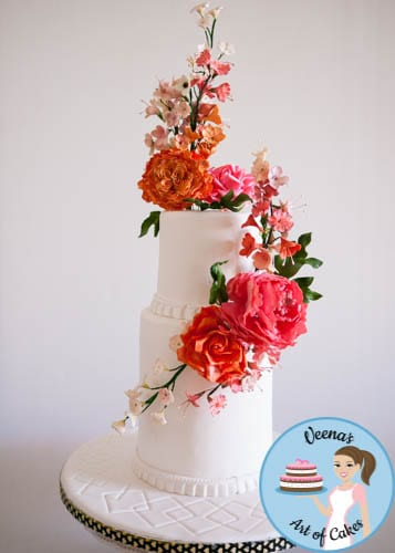 Floral Wedding Cake (12)