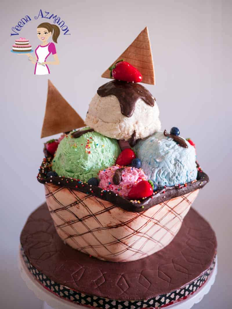 This ice cream sundae cake tutorial will let you create a fun cake for any birthday no matter what the age. It's simple easy and fun to create and eat. The realism of an ice cream ice will have every one wondering how you did it.