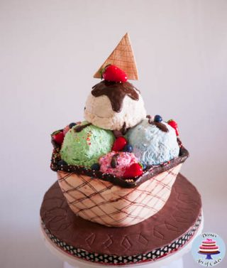 Ice Cream Sundae Cake Tutorial