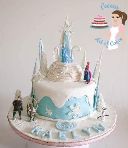 Frozen Theme Cake-11