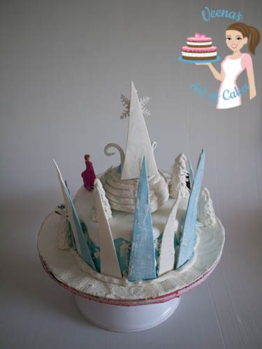 Frozen Theme Cake-12