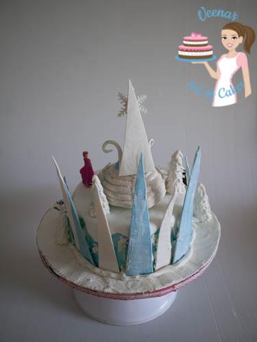 Frozen Theme Cake - top view