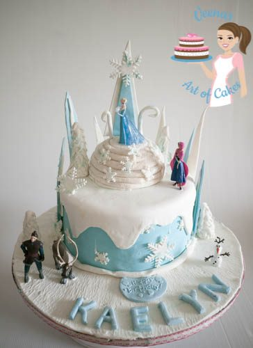 Frozen Theme Cake-9