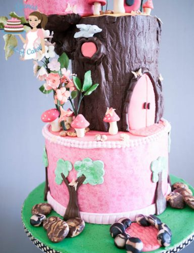 Birdhouse Enchanted Forest Cake (10)
